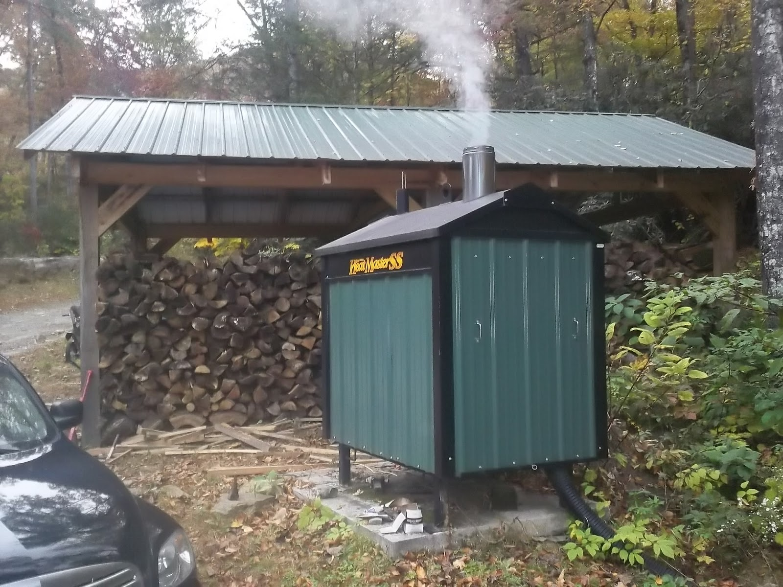Outdoor wood stoves furnaces wake forest north for Wood burning stove for porch