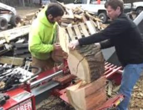 Lifting 110 lb Log Slice with Hydraulic Power…