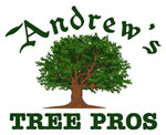 Wake Forest, North Raleigh Tree Service: Tree Cutting & Removal. Andrew's Tree Pros. Mobile Logo