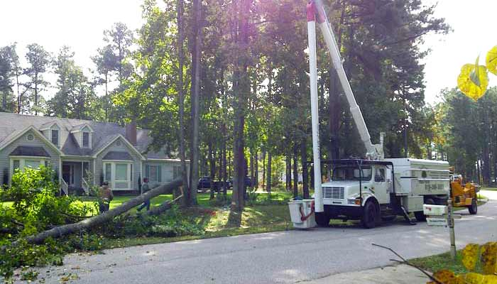 Emergency Storm Damage services by Andrew's Tree Pros of Wake Forest, NC